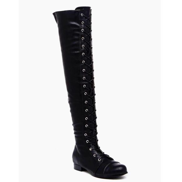 53a0278dce6 Chase   Chloe Maggy Lace-Up Over-the-Knee Boot